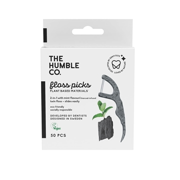 The Humble Co. - Dental Floss Charcoal Picks (50-Pack)