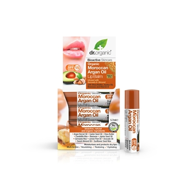 Dr. Organic, Organic Argan Oil Lip Balm infused with Avocado & Almond (5.7 ml.)