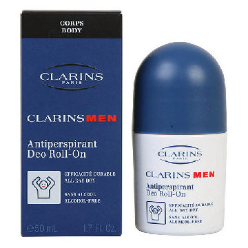 Clarins Men Anti Perspirant Deo Roll-On 50ml Alcohol Free - All Day Dry