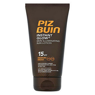 Solskydd Instant Glow Piz Buin SPF 15 (150 ml)