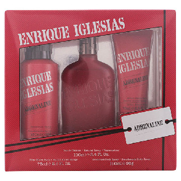 Men's Perfume Set Enrique Iglesias Adrenaline Singers (3 pcs)