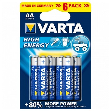 Alkaliskt batteri Varta 4906 AA 1,5 V AA High Energy (6 pcs) Blå