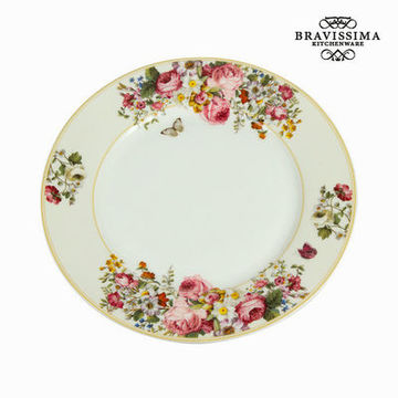Middagstallrik vit blomster - Kitchen's Deco Samling by Bravissima Kitchen
