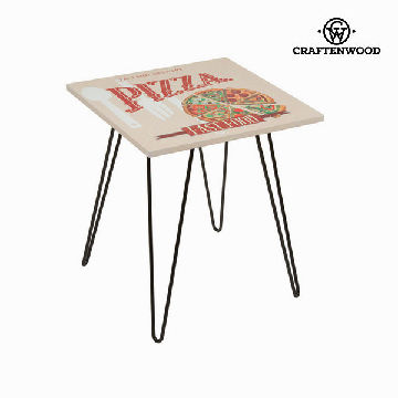 Beige fyrkantigt bord pizza by Craften Wood