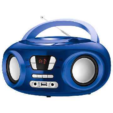 "Bluetooth CD-radio MP3 9"" BRIGMTON W-501 USB Blå"
