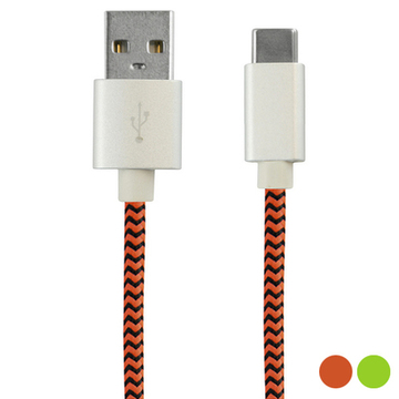 USB-C-kabel 2.4A 1 m Orange