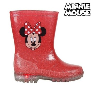 Children's Water Boots with LEDs Minnie Mouse 73498 Röd 26