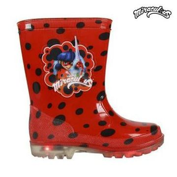 Children's Water Boots with LEDs Lady Bug 8173 (storlek 27)