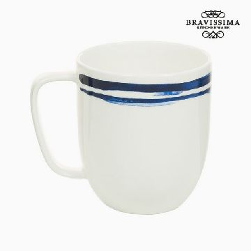 Cup Porslin Ränder Blue - Kitchen's Deco Samling by Bravissima Kitchen