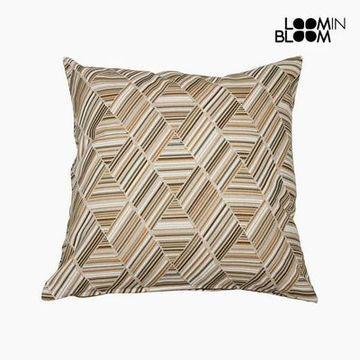 Kudde Bomull och polyester Beige (60 x 60 x 10 cm) by Loom In Bloom