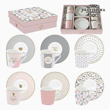 Koppset Porslin Rosa (6 pcs) by Bravissima Kitchen