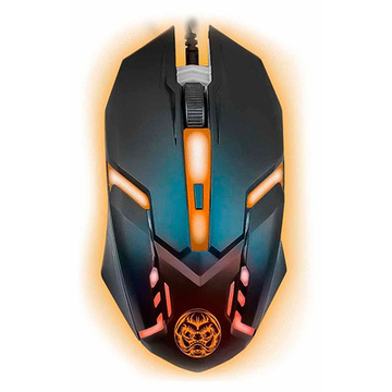 Gaming Mus iggual IGG315828 LED Svart Orange