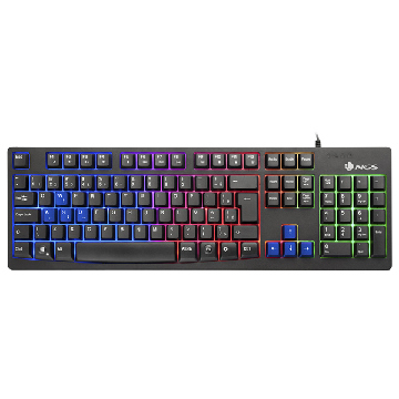 Gaming Tangentbord/ OR: Speltangentbord NGS GKX-300 PLUG&PLAY USB LED Multicolor Svart