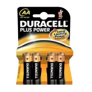 Alkaliska Batterier DURACELL Plus Power LR6 AA (PACK-4)