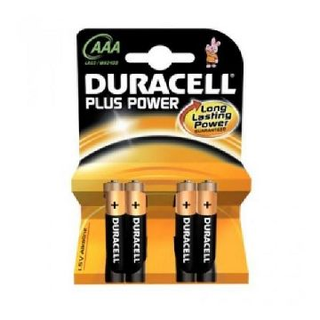 Alkaliska Batterier DURACELL Plus Power LR3 AAA (PACK-4)