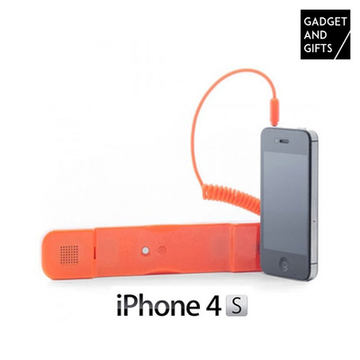Antistrålingsheadset till iPhone Orange