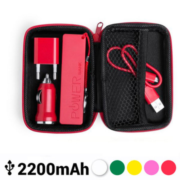 Set med laddare 2200 mAh (3 pcs) 144849 Fuchsia