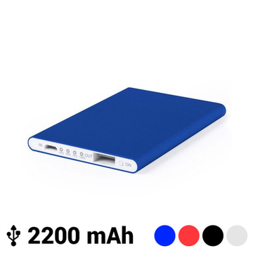 Extra tunn power bank med mikro-USB 2200 mAh LED 145538 Blå