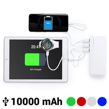 Power bank med trippel USB 10000 mAh 145779 Blå