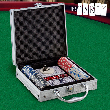 Pokerset i Lyxetui Th3 Party (100 marker)