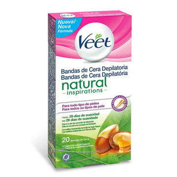 Vaxremsor Veet Easy Gelwax Natural Inspiration (20 st)