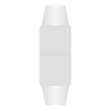 Qnect, Antenna cable coupler 5-7mm, White