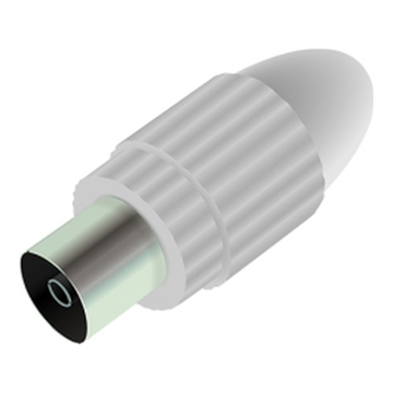 Qnect, Antenna connector male straight, White