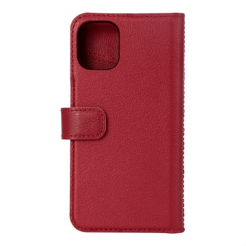 Essentials, iPhone 12 mini, Leather wallet, detachable, Red