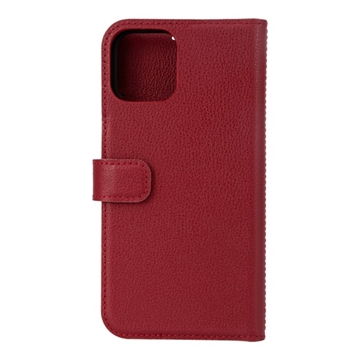 Essentials, iPhone 12/12 Pro, Leather wallet, detachable, Red