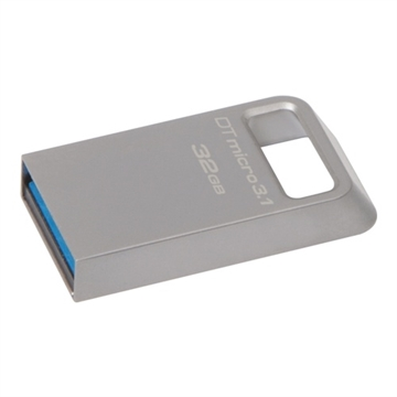 Kingston, 32GB USB 3.1/3.0 DT Micro ultrakompakt, metal
