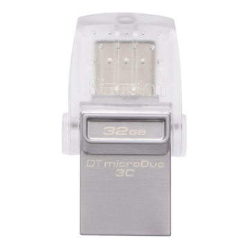 Kingston, 32GB DT microDuo 3C, USB 3.0/3.1 + Type-C flash