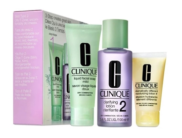 Clinique 3-Step Creates Great Skin Type 2 180ml Dry Combination Facial Soap 50ml/Clarifying Lotion 100ml/Moisturizing Lotion 30ml