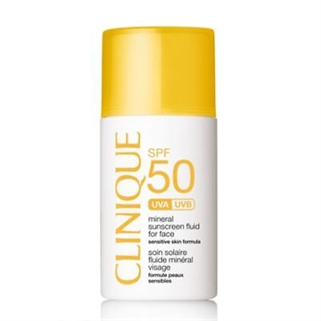 Clinique Mineral Sunscreen Fluid For Face Spf 50 30ml High Protection - Sensitive Skin