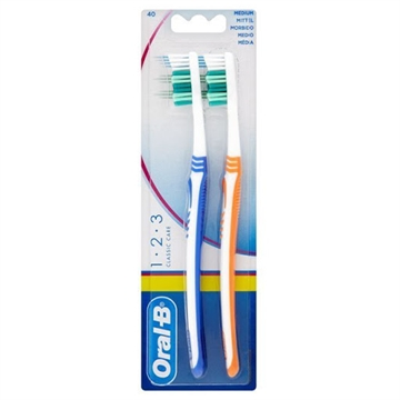 Toothbrush Oral-B Classic Care 40 Med. 2Pcs