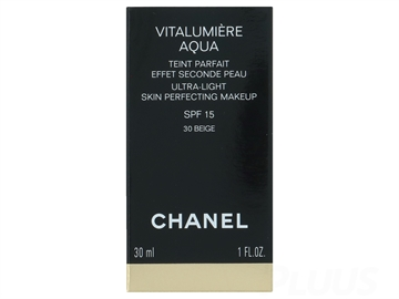 CHANEL Vitalumiere Aqua Ultra Light Skin Perfecting Make Up SPF 15 -B10 Beige Pastel 30ml