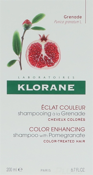 Klorane Color Radiance Shampoo With Pomegranate 200ml
