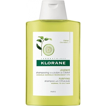 Klorane Citrus Pulp Shampoo With Vitamine 200ml Normal To Oily Hair