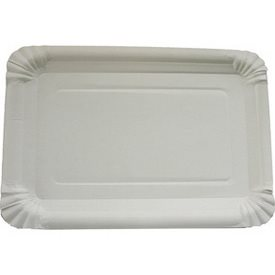 Party Plates 10pcs 16x23cm White Shrink-Wrapped