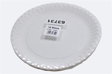 Party Plates 15pcs 23cm White Shrinkwrapped