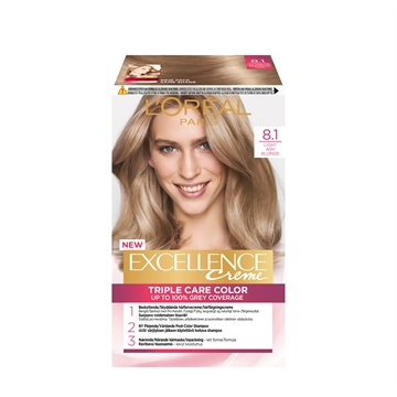 L'ORÉAL  Excellence 8.1 Light Ash Blonde 8.1 192ML