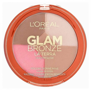 L'Oreal Glam Bronze La Terra Healthy Glow Bronzing Powder - 01 Light Laguna - 6G