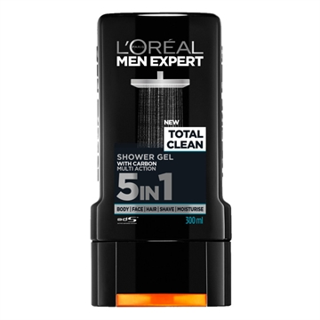 L'Oréal  Men Expert Total Clean 5In1 Shower Gel 300ml