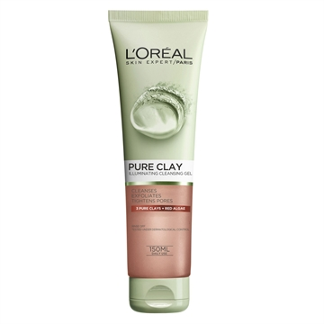 L'Oréal Paris Pure Clay Exfoliating Cleansing Gel Red 150ml