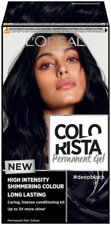 L'Oréal  Colorista Permanent Gel #Deepblack  204 ml