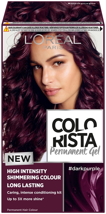 L'Oréal  Colorista Permanent Gel #Darkpurple  204 ml