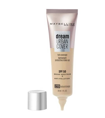 Maybelline Foundation Dream Urban Cover Foundation 220 Natural Beige 30ml