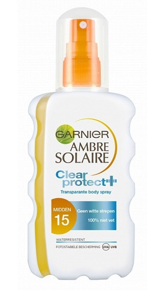Garnier solar spray transparent 200 ml Protection 15