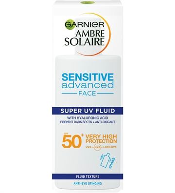 Garnier Ambre Solaire Sensitive Advanced Super Uv Fluid (Shaka) 40ml SPF50+ 40ml