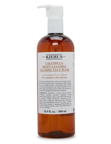 Kiehls Calendula Deep Cleansing Foaming Face Wash 500ml For A Normal-To-Oily Skin Type