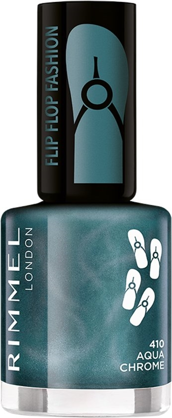 Rimmel 60 Seconds Flip Flop Shades Nail Polish 8ml  410 Aqua Chrome